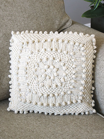 Matelasse Pillow knitting pattern
