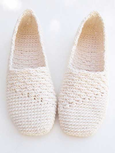Slanting Line Basic Slipper Crochet Pattern