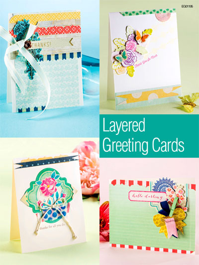 Card Paper Craft Downloads Layered Greeting Cards