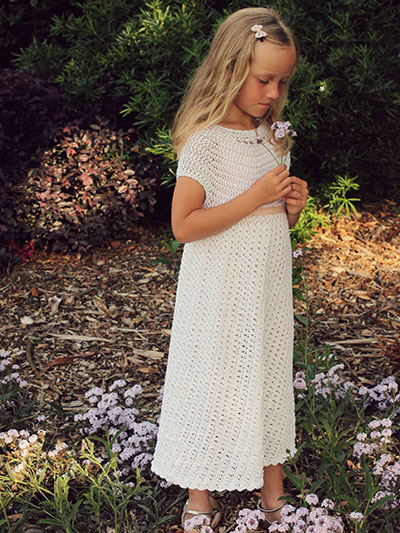 Edelweiss Girls Dress Crochet Pattern