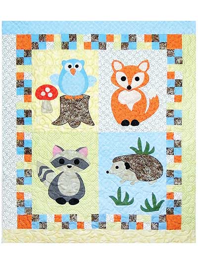 Baby Kids Wall Hanging Patterns Woodland Babies Quilt Pattern Best Baby Patterns