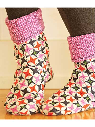 Slipper & Sock Sewing Patterns - Bedtime Boots Sewing Pattern