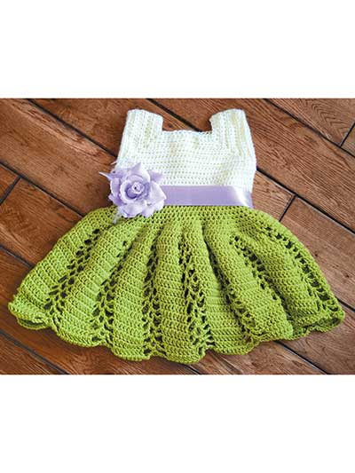 Ribbon & Lace Toddler Dress Crochet Pattern