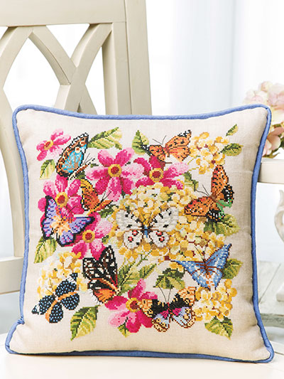 Spring Butterflies Cross Stitch Pattern