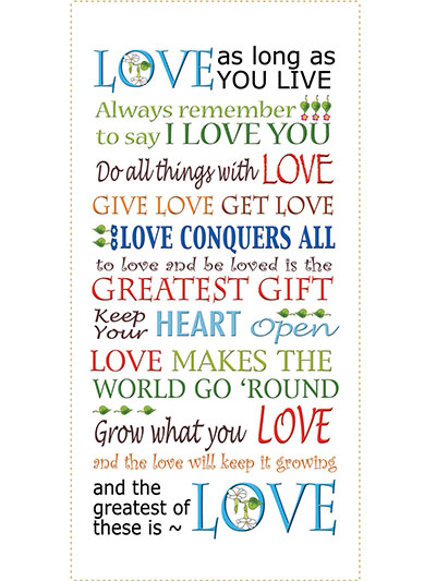 Love Words Art Panel