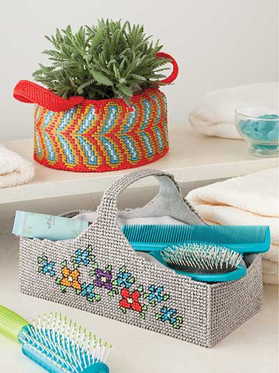 Designer Baskets plastic canvas patterns