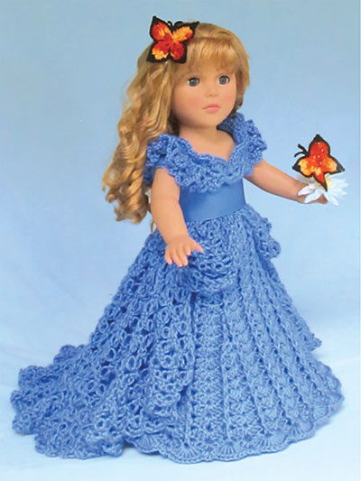 A Cinderella Dream Crochet Pattern for an 18-inch doll like American Girl Dolls