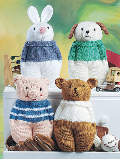 Animal Doll Toy Knitting Patterns Knit Animal Friends