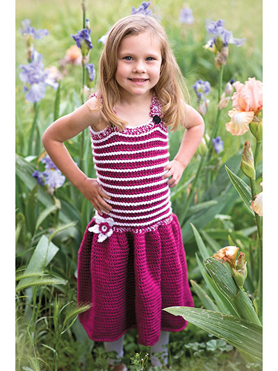 Swirly Whirly Childs Sundress Crochet Pattern