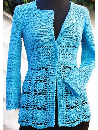 Crochet Clothing Patterns Blue Lace Jacket Crochet Pattern Awesome Crochet Clothing Patterns