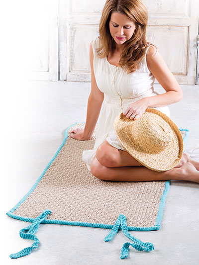 Sand and Sea Yoga or Beach Mat Knitting Pattern - Learn how to knit a yoga or beach mat