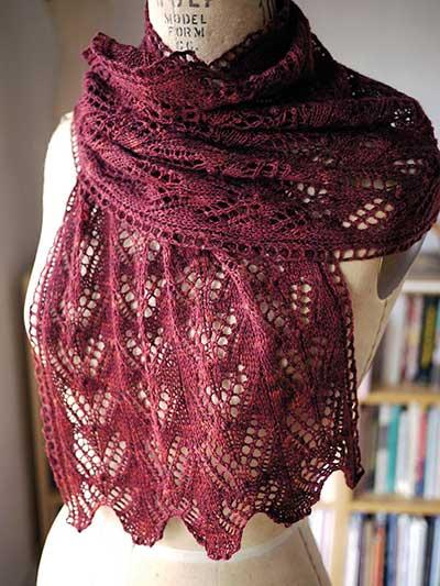 Lace Knitting Patterns Motheye Scarf Knit Pattern