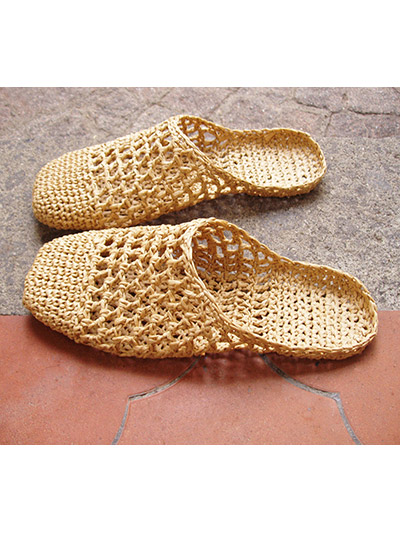 Raffia Sandals Basic Slipper Crochet Pattern