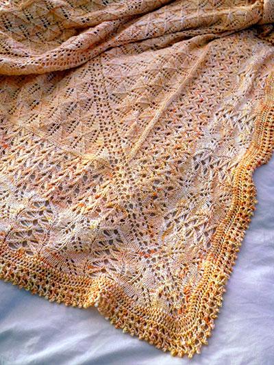 Baby Kids Knit Downloads Honey Baby Shawl Knit Pattern