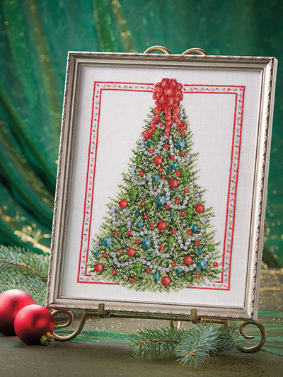 Elegant Christmas Tree Cross Stitch Pattern