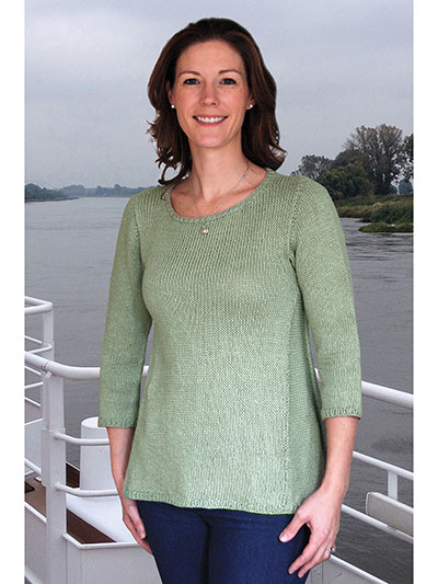 4a2b2a561623 Top and Pullover Knitting Patterns - Elbe River Sweater Knit Pattern