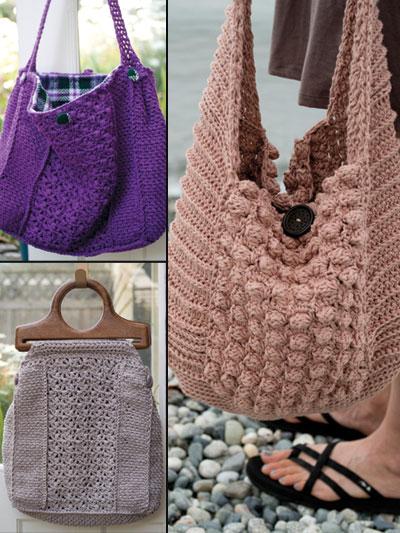 Crochet handbags bags purse patterns