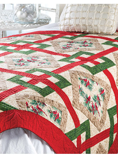 Christmas Quilt Patterns.Crisscross Christmas Quilt Pattern