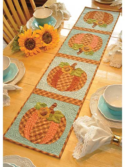 vintage october table runner pattern