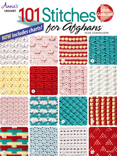 Learn To Crochet Patterns 101 Afghan Stitches Crochet Pattern Book