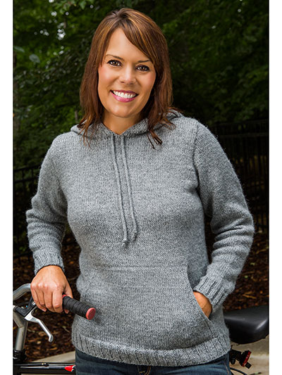 Boulder Top-Down Hoodie Knit Pattern - Knit a Hoodie Sweater Pattern