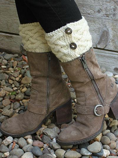 Irish Hills Boot Cuffs Knit Pattern