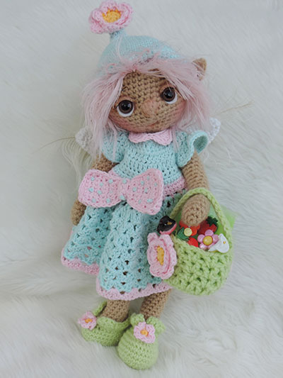 Crochet Cute Summer Fairy Crochet Pattern doll