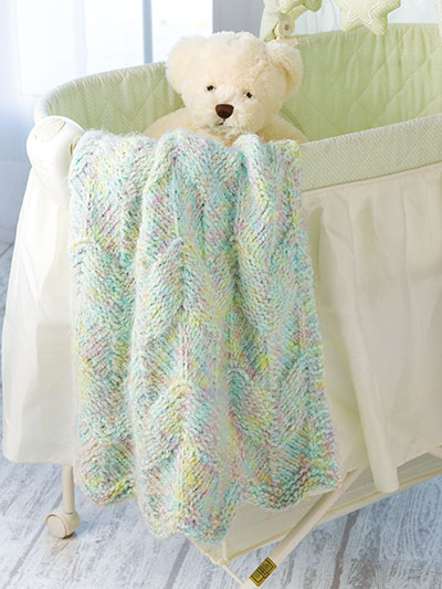 Annies Signature Designs Softest Baby Blanket Ever Knit Pattern