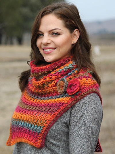Crochet Scarf Patterns Annies Signature Designs Cold Wind Cowl
