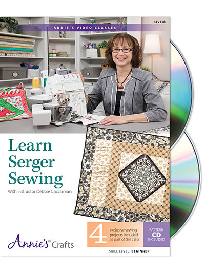 Sew - Patterns - Learn-To Patterns - Learn Serger Sewing Class DVD