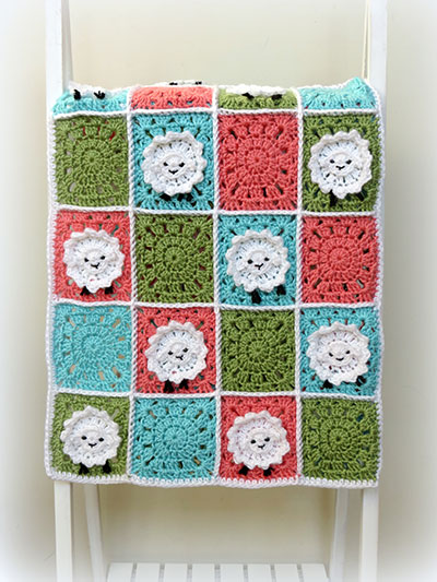 Baby Kids Crochet Blanket Patterns Little Sheep Baby Blanket
