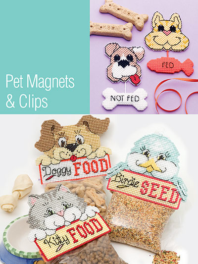 Plastic Canvas Gift Designs Pet Magnets Clips