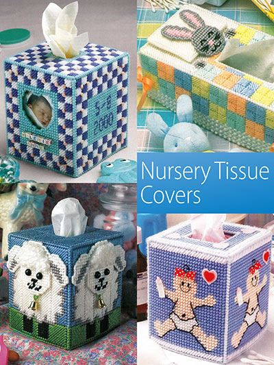 Nursery Tissue Covers to Make using Plastic Canvas Patterns
