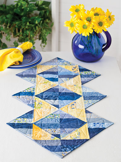 Exclusively Annie's Triangle Illusions Table Runner Pattern