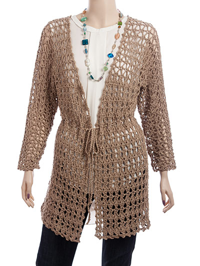 Cut-Diamond Cardigan crochet pattern for sweater