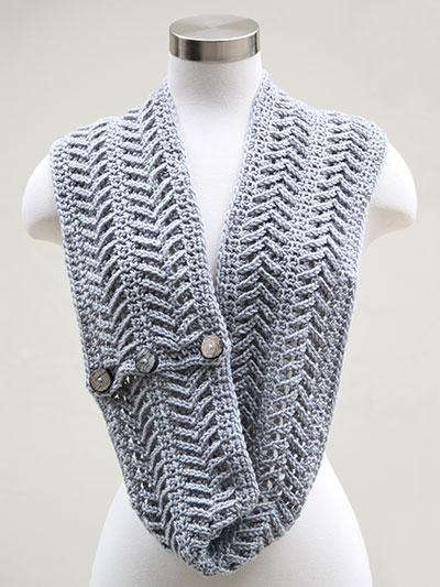 Crochet Scarf Patterns Annies Signature Designs Fishbone Cowl