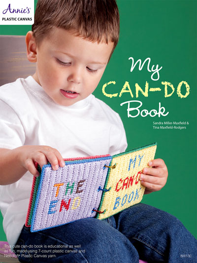 My Can-Do Book a toddler book to make using plastic Canvas