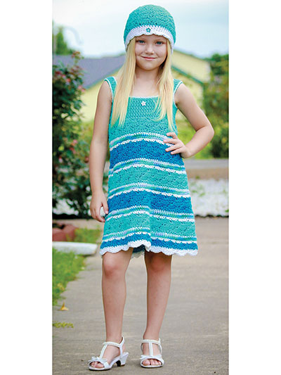 Crochet Girls Seaside Dress Pattern