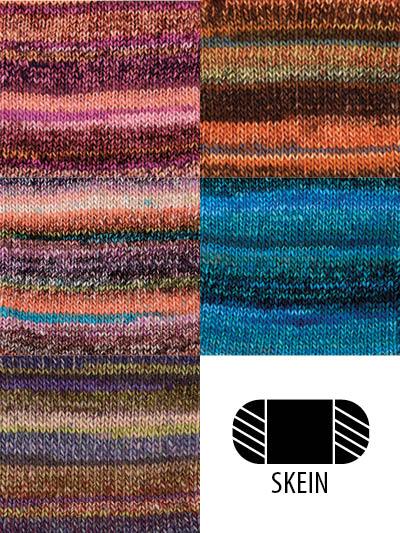 Self Striping Yarns Color Changing Yarns