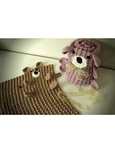 Baby Kids Crochet Blanket Patterns Roly Poly Teddy Blankets