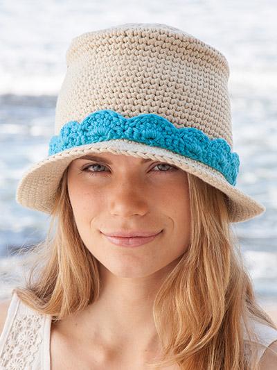 Novo Fedora crochet hat pattern