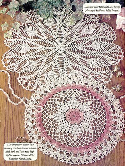 Crochet Home Decor Vintage Chic Doilies Crochet Pattern