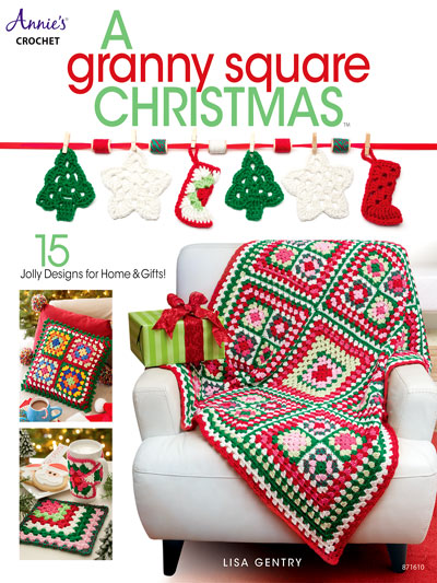 Crochet 15 different Granny Square patterns in A Granny Square Christmas