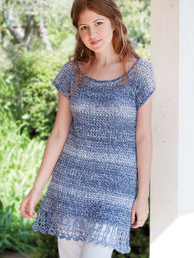 Crochet Clothing Downloads Seaspray Tunic Crochet Pattern
