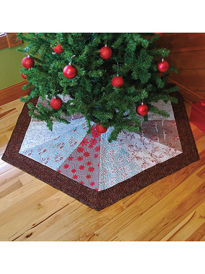 Hexagon Christmas Tree Skirt Quilt Pattern