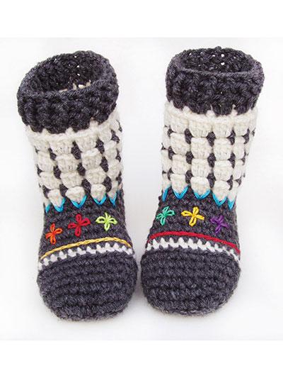 Crochet Baby Booties Socks Fair Isle Booties For Kids Crochet
