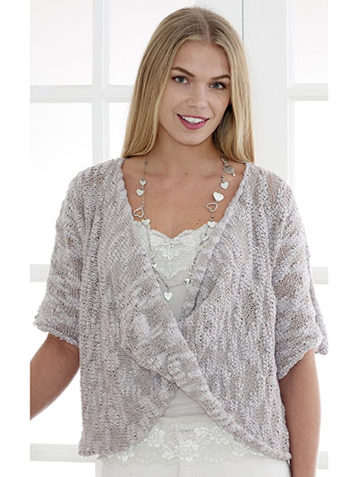 Top And Pullover Knitting Patterns 4477 Shrug Sweater Knit Pattern