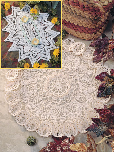 Crochet Patterns Calla Lilly And Buttercup Doilies