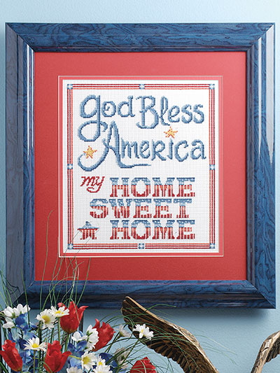 God Bless America Cross Stitch Pattern