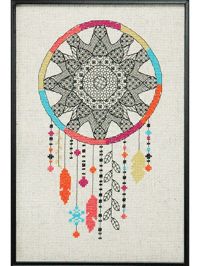 CrossStitch Downloads Blackwork Dreamcatcher Cross Stitch Pattern Simple Cool Cross Stitch Patterns